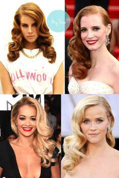 Old Hollywood Hair -Inspiration: Old Hollywood Hair - How+to+choose+color+after+purchase+ . Wedding make up ideas 2017 04 Amazing Party Hairstyles For Long Hair - Holiday Hair - - Hair Pop H. Retro Hairstyles, Everyday Hairstyles, Wedding Hairstyles, Party Hairstyles, Wedding Hair And Makeup, Bridal Hair, Retro Wedding Hair, Old Hollywood Hair, Old Hollywood Waves
