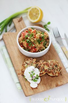 Chicken and zucchini patties by Yotam Ottolenghi