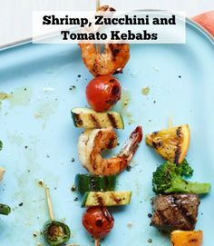 Planning a backyard barbecue? Try these skewers, which make an eye-catching impact on the plate with whole shrimp, chunked zucchini and juicy grape tomatoes. Get the recipe.