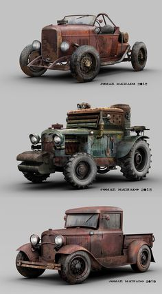 ArtStation - From my garage's window. The Grunge ones. Weird Cars, Cool Cars, E Quad, Garage Windows, Hot Rods, Car Sketch, Car Drawings, Modified Cars, Dieselpunk