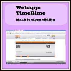 Handig voor Geschiedenis! Met de Webapplicatie 'TimeRime' kun je een interactieve tijdlijn maken. Je kunt gemakkelijk filmpjes, foto's en informatie toevoegen.