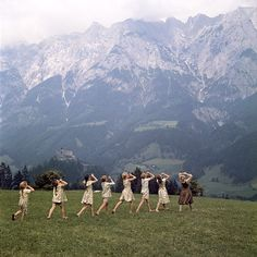 "The Alps near Salzburg Maria takes the children on a picnic in the mountains outside Salzburg, where she teaches them to sing. The iconic ""Do-Re-Mi"" number begins on a verdant hillside surrounded by the Alps' craggy peaks."