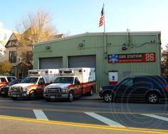 "EMS26 FDNY EMS Battalion 26 Station House ""The Tinhouse"", Morrisania, Bronx, New York City"