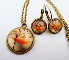 Beautiful jewelry set in bronze with necklace and by Schmucktruhe, €25.00