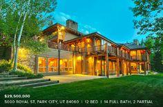 12-Bed, 14-Bath, Rustic Home, Park City Utah.