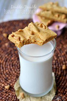 Peanut butter cookie bars #recipe