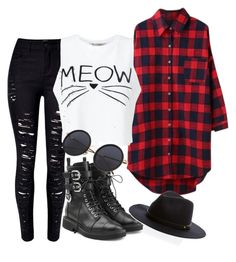 """""""Grunge kitty"""" by sydney-ripley on Polyvore featuring WithChic, Miss Selfridge and Giuseppe Zanotti"""