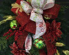Christmas Swag, Christmas Wreath, Front Door Wreath, Front Door Swag, Holiday Wreath, Holiday Swag, Artificial Christmas Wreath,