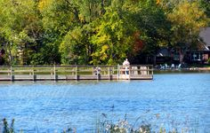 Silver Lake Fishing Pier in North St Paul MN  #SilverLake #fishing #Minnesota #NorthStPaul