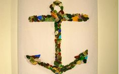 Sweet DIY Sea Glass Crafts … | Lifestyle-NAUTICAL WALL ART