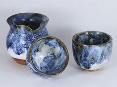 china blue Hai and tea cup #art#pottery#ceramics#ru klin porcelain#teaware #agate #handmade ceramics#tea cup#tea-bowls#ceramics arts#ceramics pottery #ceramics bowls#ceramics tea set#china blue