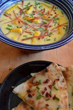 Supa crema de porumb Corn Chowder | Savori Urbane Soup And Salad, Cheeseburger Chowder, Soups, Salads, Urban, Recipes, Food, Soup, Rezepte