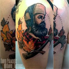 Please don't copy, be inspired. Fun lumberjack tattoo I made today. I'd love to…