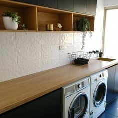 """Fantastic """"laundry room storage diy small"""" info is available on our internet site. Take a look and you wont be sorry you did. Ikea Laundry Room, Modern Laundry Rooms, Laundry Room Layouts, Laundry Room Storage, Laundry In Bathroom, Garage Laundry, Design Websites, Design Blogs, Interior Design Living Room"""