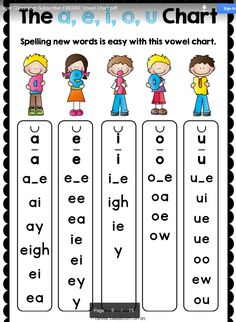 Step Vowel Blends (Digraphs): This file is a collection of aids that will complement your phonemic awareness and phonics program. Vowels are organized under a, e, i, o, u. Phonics Reading, Teaching Phonics, Teaching Reading, Guided Reading, Teaching Resources, Jolly Phonics Activities, Dyslexia Activities, Physical Activities, Reading Comprehension