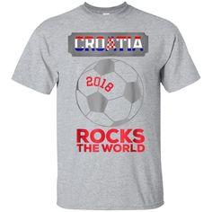 d50946dc190c0 99promocode Croatia Football Shirt Soccer Rocks The World 2018 TShirt  Football Shirts