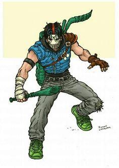 Casey Jones had the craziest style. Ninja Turtles Art, Teenage Mutant Ninja Turtles, Tmnt, Arte Nerd, Casey Jones, Lion Art, 90s Cartoons, Cartoon Shows, Character Concept