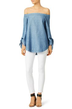 Rent Chambray Show Some Shoulder Tunic by Free People for $30 only at Rent the Runway.