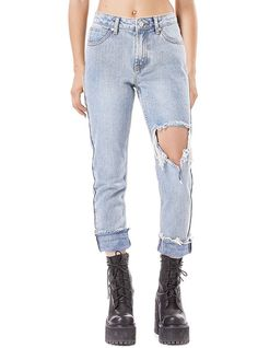 UNIF fringe jeans on Mercari Unif Clothing, Denim Jeans, Mom Jeans, Boyfriend Jeans, Pants, Outfits, Clothes, Women, Savage