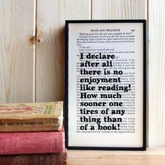 Pride and Prejudice booklover's print