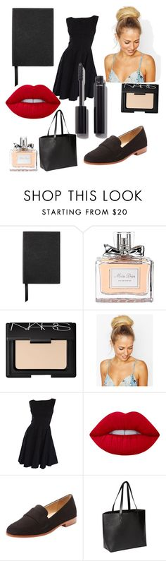 """""""November 20th"""" by nicky-jane-neary on Polyvore featuring Smythson, Christian Dior, NARS Cosmetics, Hershesons, Lime Crime, Steven by Steve Madden, Old Navy and Chanel"""