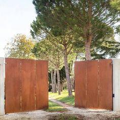 portail-architecte acier corten