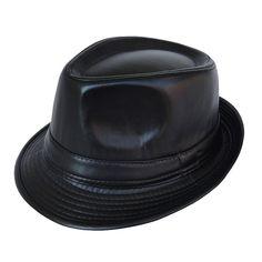 bcfb0da5 Brand New Black Coffee PU Fedora Hat for Men Women Classic England Style  Caps Casual Fashion Jazz Hats Vintage Wide Brim Visor [orc32851349634] -  $33.35 : ...