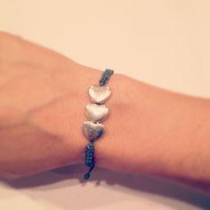 Heart macrame bracelet by AroundMyWrist on Etsy, 10.00 valentines day gift