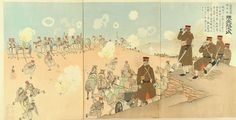 A scene of Japan-Russo war - Regimental commander of the 1st Imperial guards Artillery - Kumamoto Masaji