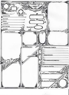 Dungeons & Dragons 5th Edition Character Sheet