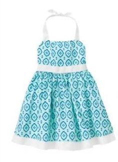 d7499aa42eb Janie   Jack Mediterranean Blue White 18-24 Month Toddler Preppy Halter  Dress