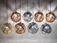 Lámpara colgante de latón ETCH SHADE BRASS Colección Etch by Tom Dixon | diseño Tom Dixon