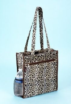f2418ef084 Leopard Spots Tote Bag Makeup Clothes Books School Office by BlowOutBarn.   9.99. Bag Measures