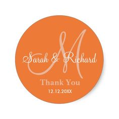 Initial Stickers with bride and groom name,date of wedding and a thank you message to express your gratitude on your wedding day or any special occasion.