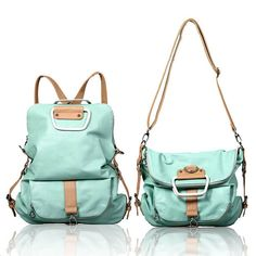 Amazon.com : Juice Action Women's Leather Crossbody Shoulder Handbag Backpack Mint Green (Mint Green) : Sports & Outdoors