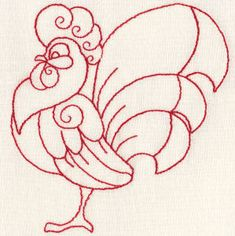 Red Rooster  embroidery