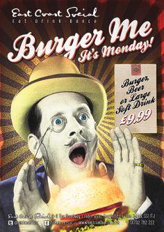 East Coast Social - Burger Me A0 Poster