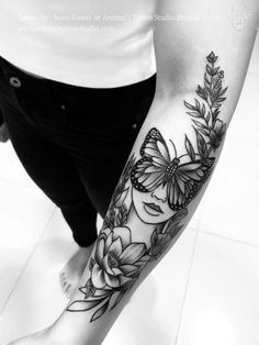 A nature theme with beautiful positive vibes tattoo by Sonu Rawat At- Animal's T. - A nature theme with beautiful positive vibes tattoo by Sonu Rawat At- Animal's Tattoo Studio - Flower Wrist Tattoos, Ring Finger Tattoos, Forearm Sleeve Tattoos, Inner Forearm Tattoo, Cute Tattoos, Body Art Tattoos, Small Tattoos, Awesome Tattoos, Pretty Girl Tattoos
