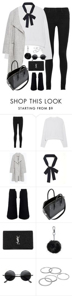 """Untitled#4523"" by fashionnfacts ❤ liked on Polyvore featuring J Brand, Acne Studios, Zara, Givenchy, Yves Saint Laurent, Topshop, Retrò and Apt. 9"