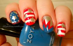 billythebrime 4TH JULY #nail #nails #nailart