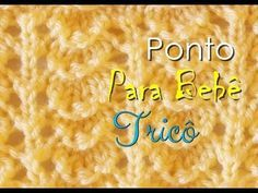 PONTO DE TRICÔ PARA CASAQUINHO DE BEBÊ - YouTube Crochet Rope, Tunisian Crochet, Kawaii Cross Stitch, Cross Stitching, Youtube, Knitting, Charts, Bb, Knitted Flowers