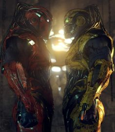 Cyrax vs Sektor  by UltraVD.