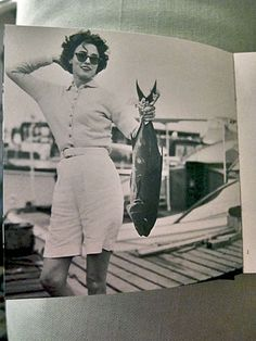 Babe Paley fishing. Photo by William Paley.