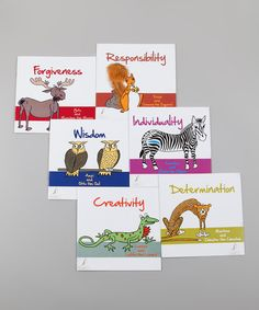 Learning life lessons and building self-esteem starts at an early age. Promote healthy thoughts and healthy living with this set of six books, each which promote different aspects of a more virtuous life.Includes six booksPVCImported