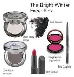 """""""The Bright Winter Face: Pink"""" by catelinden ❤ liked on Polyvore featuring beauty, Bite, Topshop, Urban Decay, Kevyn Aucoin, Stila and modern"""