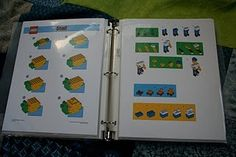 gift idea for friend b-day parties - print off instructions for lego building from www.legofamilytime.com/family fun (then click on downloads) & put in a page protectors in a binder.