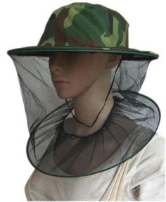 The Mosquito Head Net With Hat is a must have if you plan on being outdoors in a popular mosquito spot (fishing, camping, hiking).