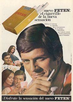 Cigarrillos Feten 1969 El cigarrillo de la nueva sensación.