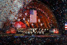 Confetti rain at Boston Pops Fourth of July Concert