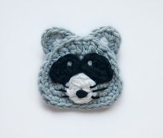 Ravelry: Raccoon Applique pattern by Carolina Guzman $3.75